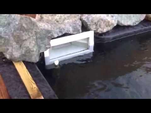 (Prt 3) koi pond 6' deep made from Sleepers!