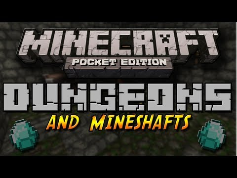 DUNGEONS AND MINESHAFTS in Minecraft Pocket Edition