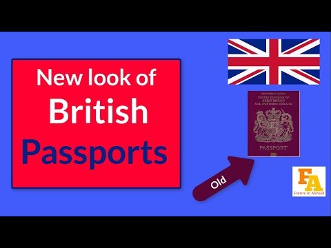 UK NEW PASSPORT || This is what a British passport could look like after Brexit
