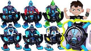 Ben 10 Omni-launch Battle Transform Figure! Omni-enhanced Alien! Defeat Dinosaurs! #dudupoptoy
