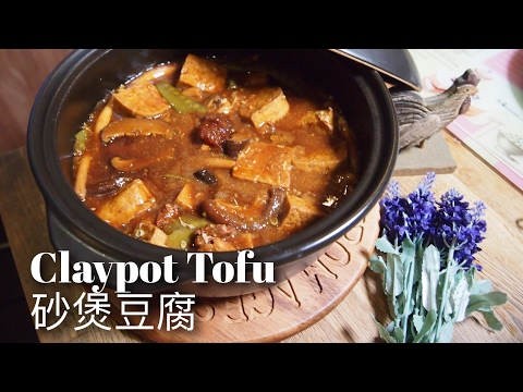 Quick + Easy Braised Tofu w/ Mushrooms 砂煲红烧豆腐