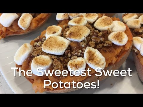 The Sweetest Twice Baked Sweet Potatoes