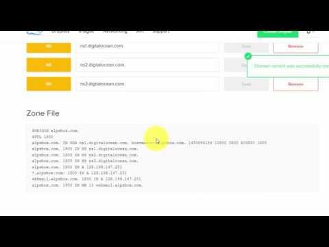 Editing DNS records in Digitalocean