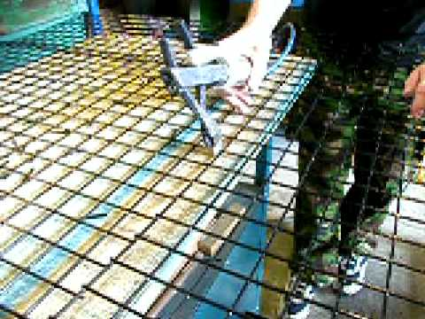 How to Build A Lobster Trap: 01 Flattening & Cutting the Wire Mesh