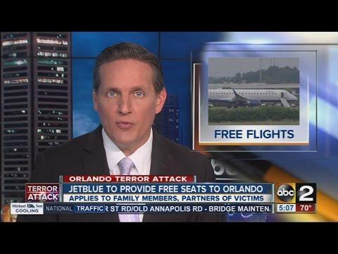 JetBlue to provide free seats to Orlando
