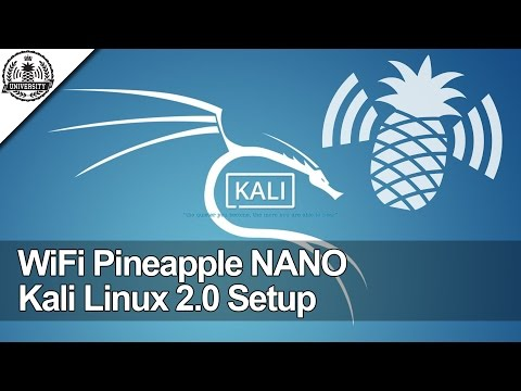 WiFi Pineapple NANO: Kali Linux 2.0 Internet Connection Sharing