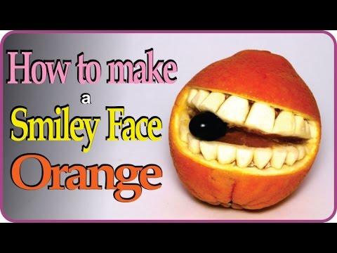Smiley Orange Fruit Carving