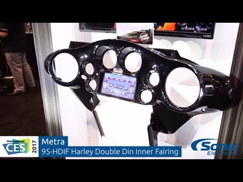 Metra 96-13 Harley-Davidson Inner Fairing for Double Din Car Stereo   CES 2017