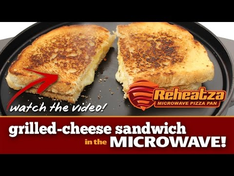 Grilled Cheese Sandwich in the Microwave! Reheatza Microwave Pizza Pan