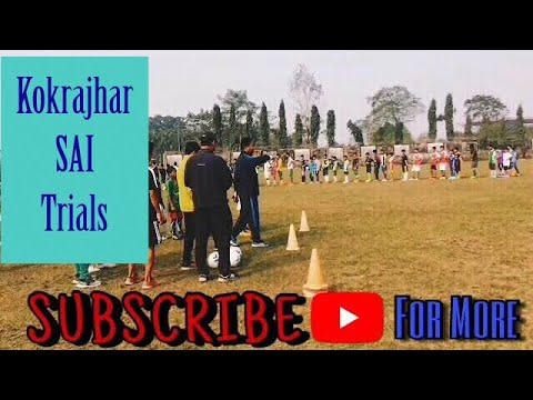 Football Trial at Kokrajhar SAI SAG Centre for inducting the good quality players