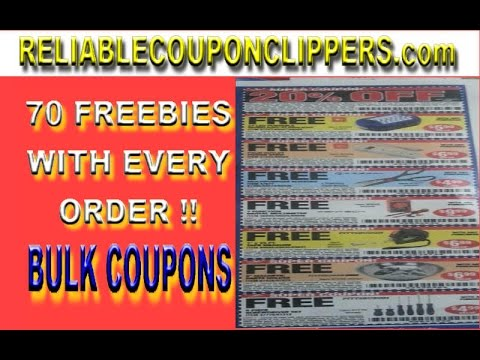 70 FREEBIES w/ EVERY BULK COUPON INSERT PACK ( EXTREME COUPONING ) RELIABLE COUPON CLIPPERS