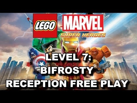 LEGO Marvel Super Heroes: Level 7 Bifrosty Reception FREE PLAY (All Minikits & Stan Lee in Peril)