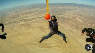 Skydiving with a Bowling Ball | Outrageous Acts of Science