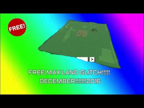 NEW) FREE MAX LAND GLITCH!!! LUMBER TYCOON 2 WORKING