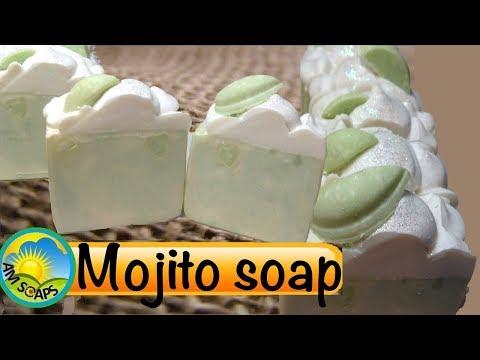 Making and Cutting Mojito Cold Process Soap