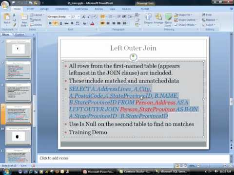 How to use SQL Joins - Learn SQL Server 2008
