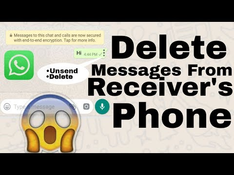 Delete  messages From Receiver's Phone|Whatsapp Tricks