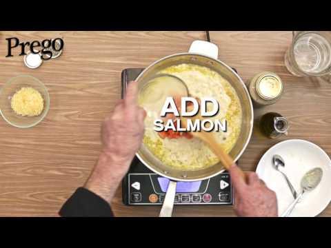 Prego Fettuccine Salmon Carbonara - 60secs Video Tutorial
