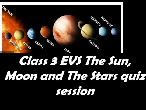 Class 3 EVS The Sun, Moon and The Stars QS-Free Science Worksheets for 3rd Grade