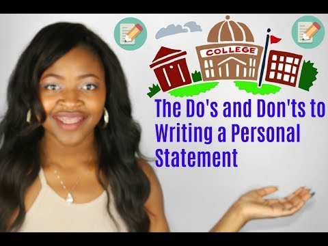 The Personal Statement Advice from a UNC Student Pt.1⎜The Do's and Don'ts⎜DymondStar