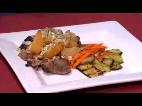 Grilled Pork Tenderloin with Sautéed Pears