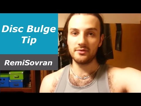 Quick Disc Bulge Tip that may Help you Sleep