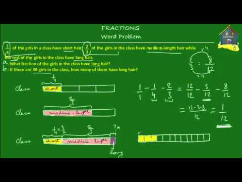 Singapore Math, Grade 5 / Primary 5: Fractions, Word Problem Q2
