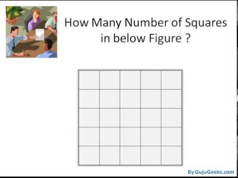 Find Number of Squares in a Square : Quiz Corner Tutorial 1