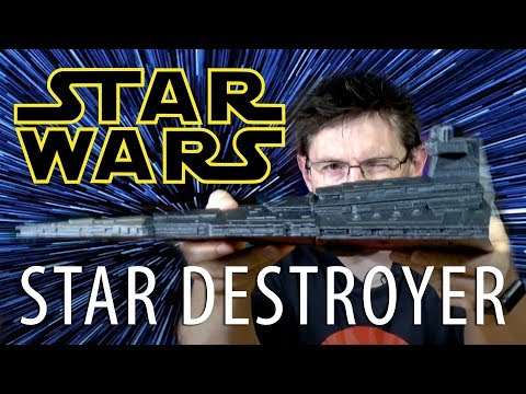 STAR WARS! 3D Printing Star Destroyer using Filamentum on TEVO Little Monster Delta 3D Printer