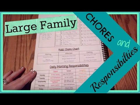 Large Family Chore & Responsibility Chart