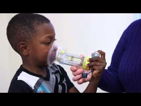 Using an Inhaler with a Spacer Mask