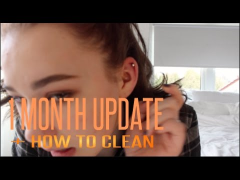 Helix piercing 1month update + How to clean it