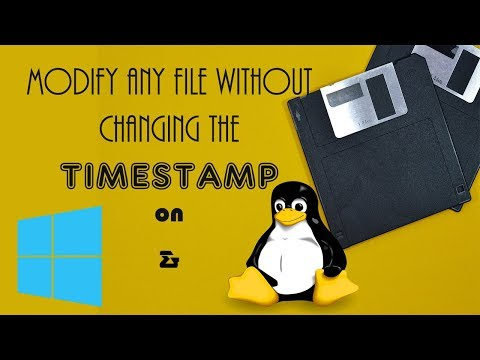 Awesome Trick   Change a file without affecting its modified time   Linux & Windows