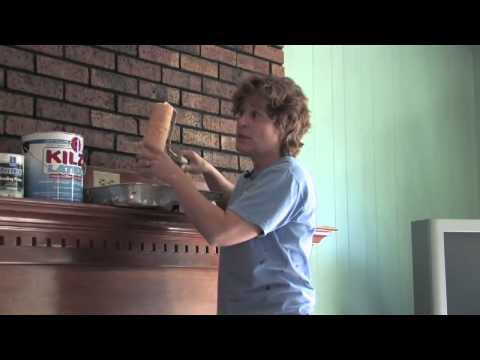 Interior Painting Ideas -  How to Paint Over a Brick Wall