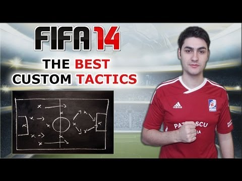 THE BEST CUSTOM TACTIC in FIFA 14  / FUT & HDH / Best Attack & Best Defence