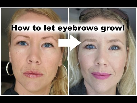How to let eyebrows grow back!  | BEAUTY OVER 40