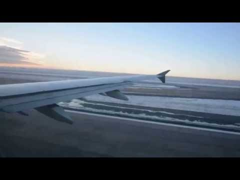 US Air A321 Smooth Frosty Morning Take Off From DIA