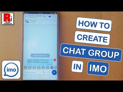 HOW TO CREATE CHAT GROUP IN IMO