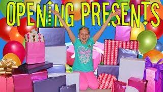 Birthday Morning Present Opening -- Alyssa