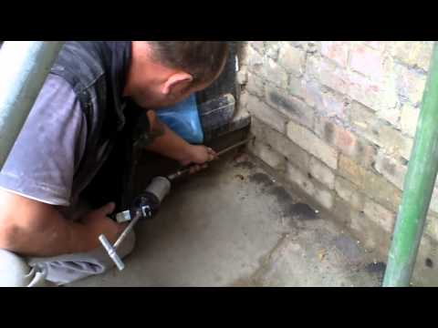Easy how to do external damp proofing  DPC to create a render plynth
