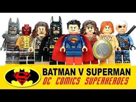 Batman v Superman Dawn of Justice DC Super Heroes LEGO KnockOff Minifigures w/ Aquaman
