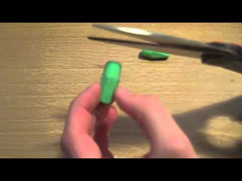 How to make mario warp pipe out of erasers