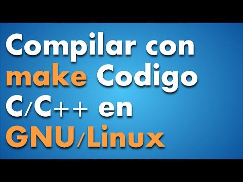 Compilar con make código C y C++ en GNU/Linux