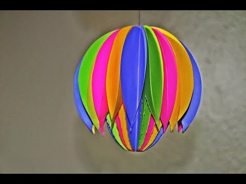 Paper Ball Hanging Decoration for Home #Diwali # Christmas # New Year Celebrations