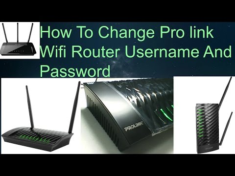 How To Change Pro link Wifi Router Username And Password