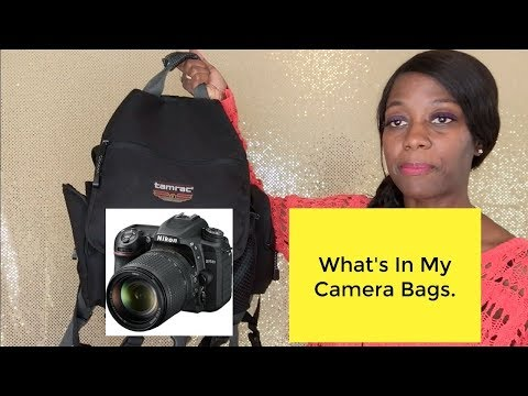 What's In My Camera Bags.