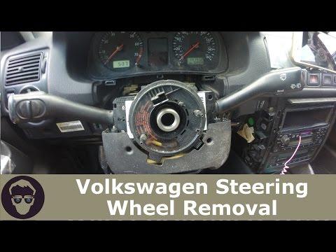 mk4 golf steering wheel airbag removal
