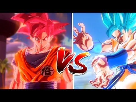 Super Saiyan God Goku VS Super Saiyan Blue Goku (SSGSS) (Xenoverse 2)