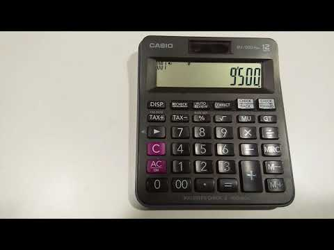 How to use tax+ and tax- button on calculator