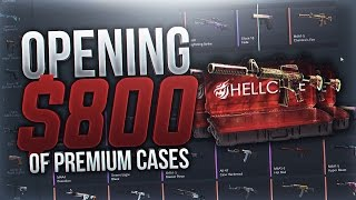 OPENING $800 OF PREMIUM CASES ON HELLCASE!